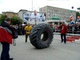 Стронг, день химега 2010, г.Березники-упражнение эстафета-колесо 200кг +